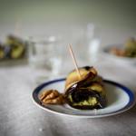 Lilek s ořechovou pastou a bylinkami